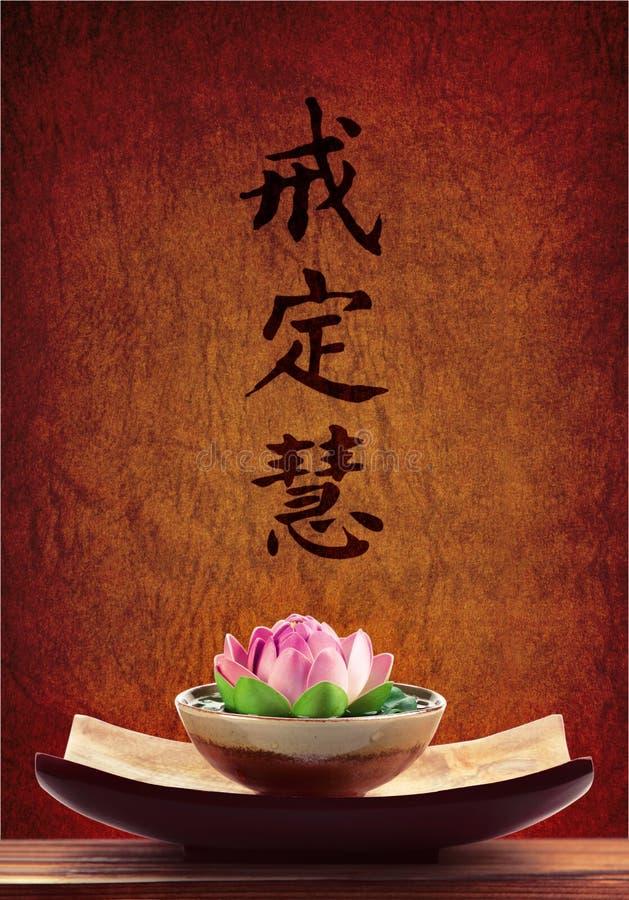 Priorità bassa di Buddhism fotografia stock libera da diritti