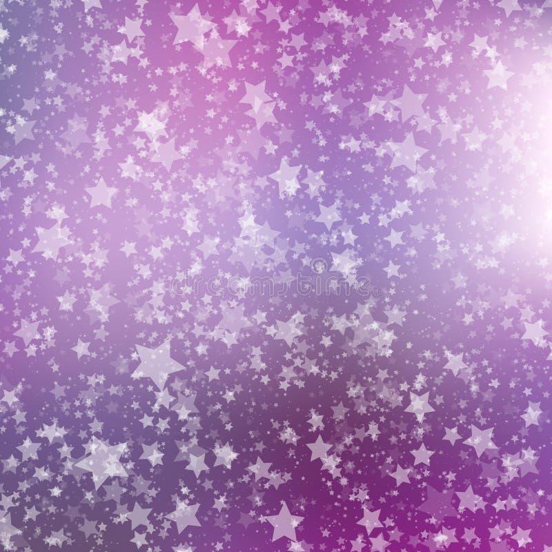 Priorità bassa di caduta della neve Modello astratto del fiocco di neve Illustrazione di vettore royalty illustrazione gratis