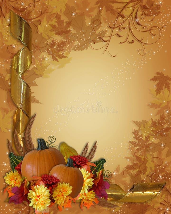 Priorità bassa di caduta di autunno di ringraziamento illustrazione di stock