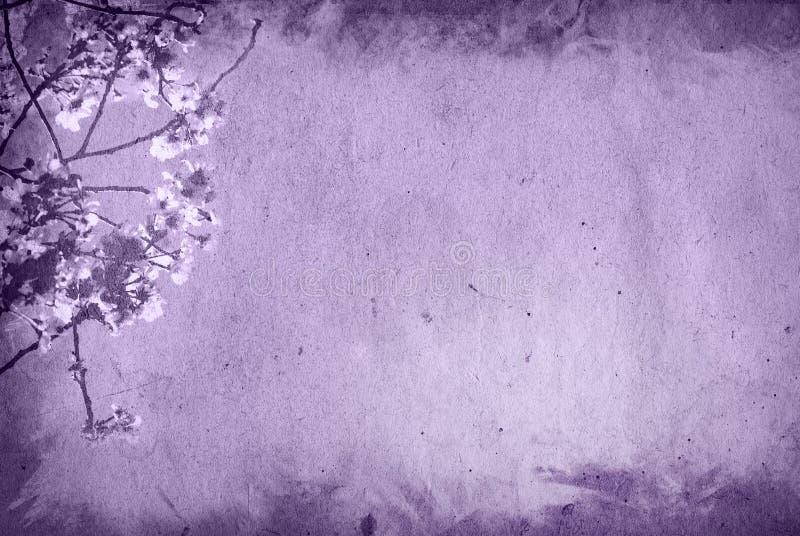 Priorità bassa di carta del fiore e vecchia di struttura illustrazione di stock