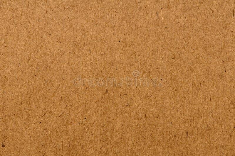 Priorità bassa di carta riciclata marrone naturale di struttura fotografie stock