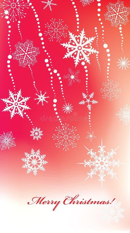 Priorità bassa di Chrismas con gli snowlakes illustrazione vettoriale