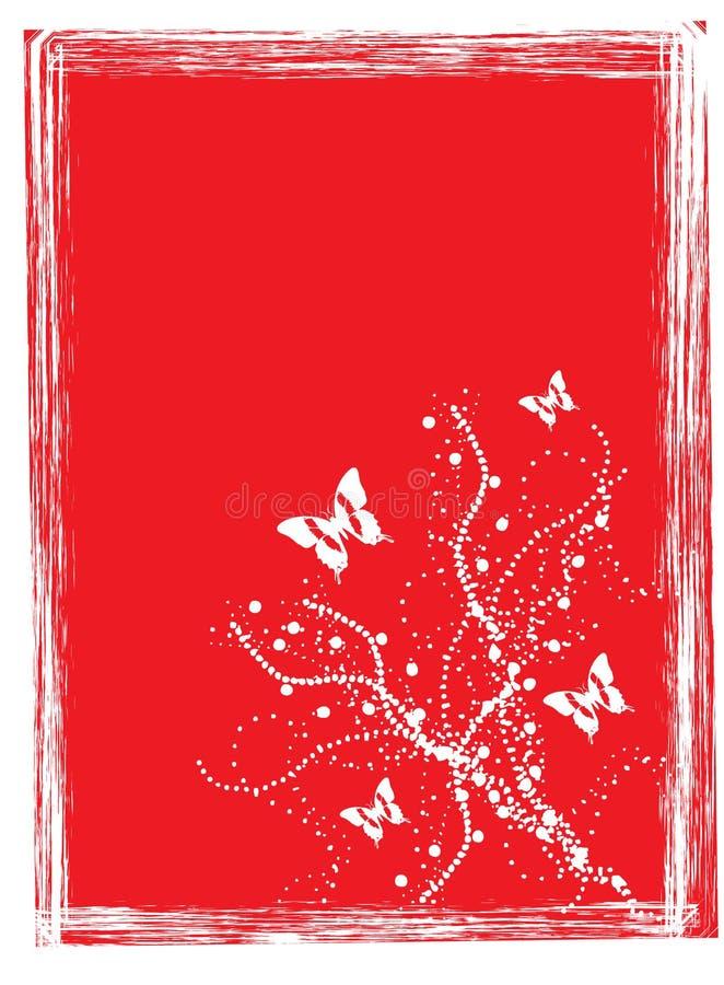 Priorità bassa di colore rosso della farfalla royalty illustrazione gratis