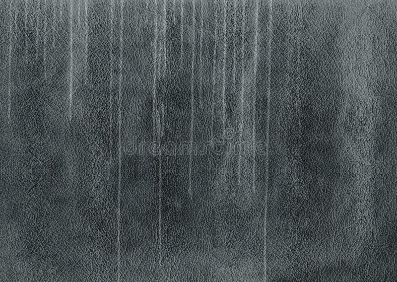 Priorità bassa di cuoio nera di Grunge fotografia stock libera da diritti