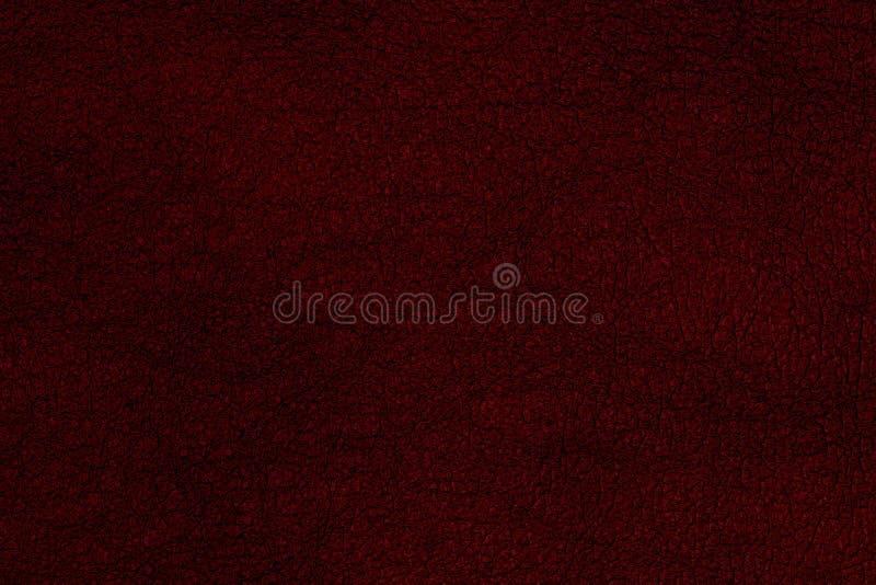 Priorità bassa di cuoio rossa di struttura Fondo astratto, templ vuoto fotografie stock