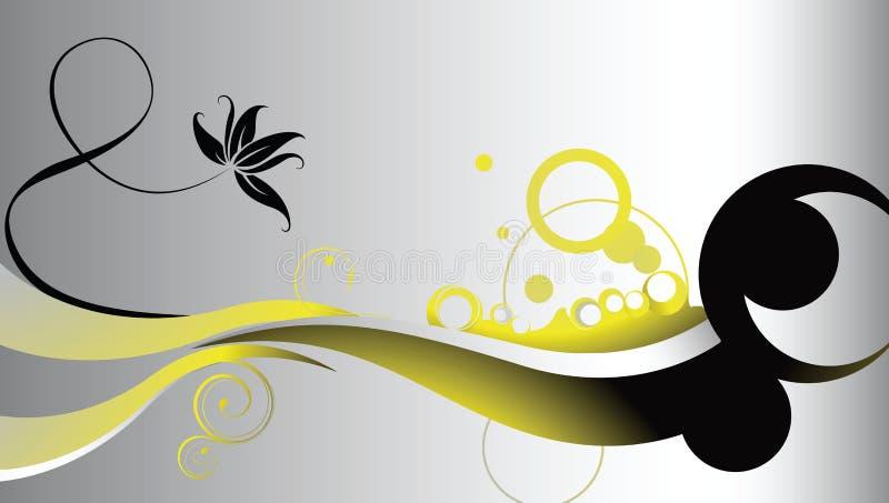 Priorità bassa di disegno floreale royalty illustrazione gratis
