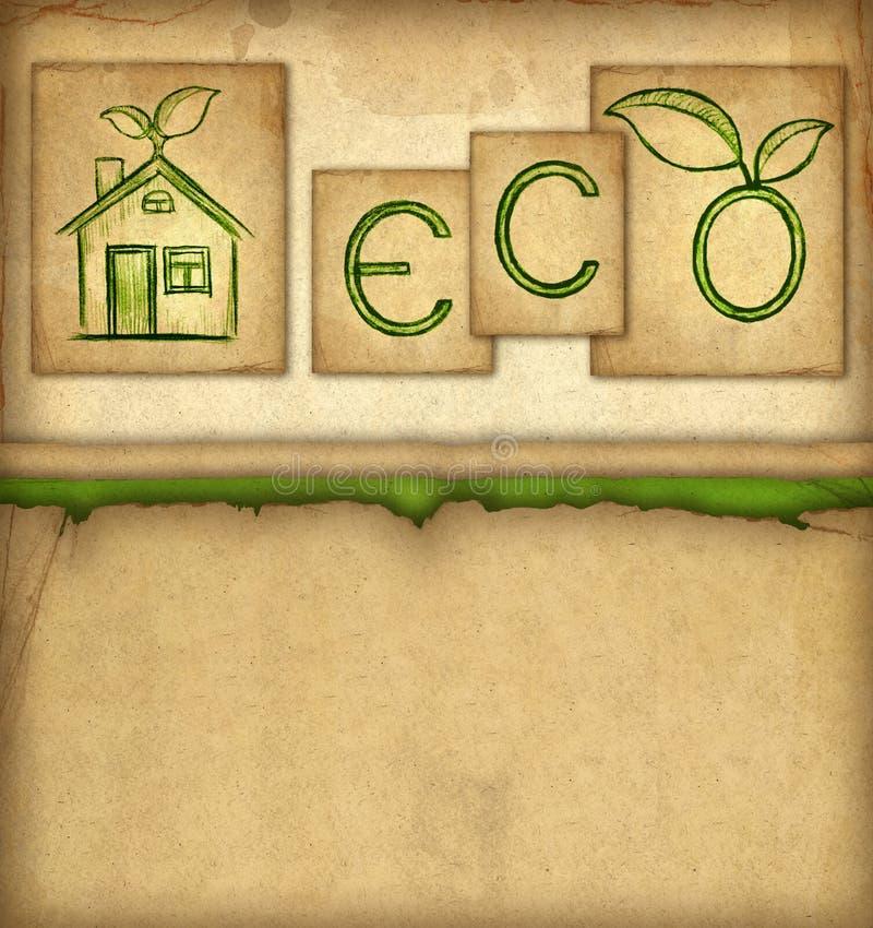 Priorità bassa di Eco illustrazione vettoriale