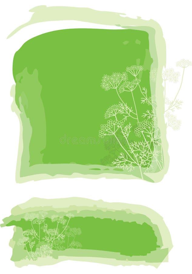 Priorità bassa di erbe illustrazione di stock