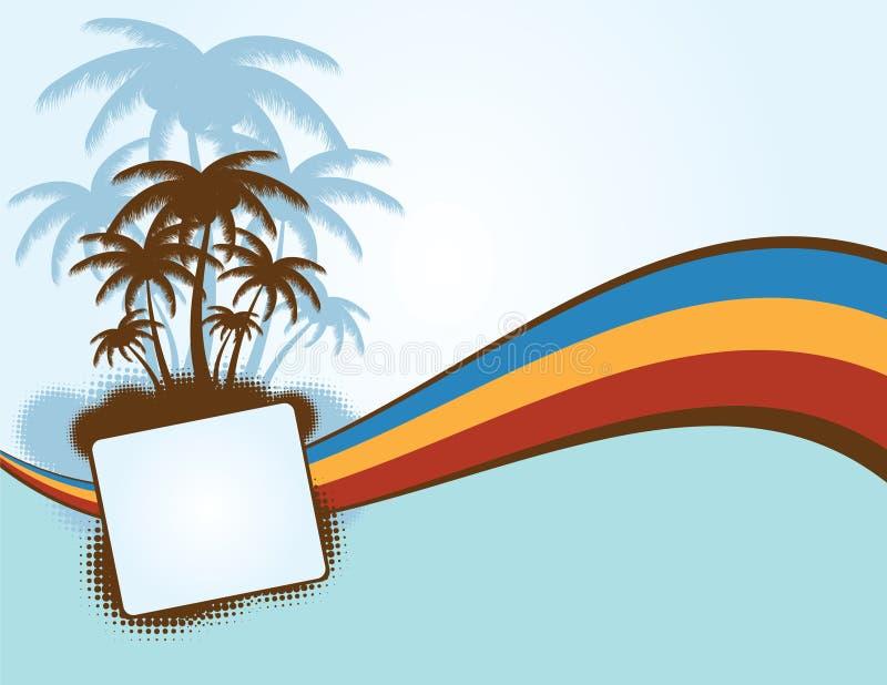 Priorità bassa di estate con le palme illustrazione vettoriale