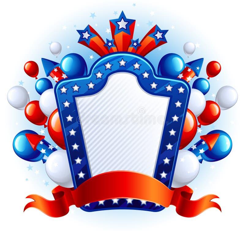 Priorità bassa di festa dell'indipendenza royalty illustrazione gratis