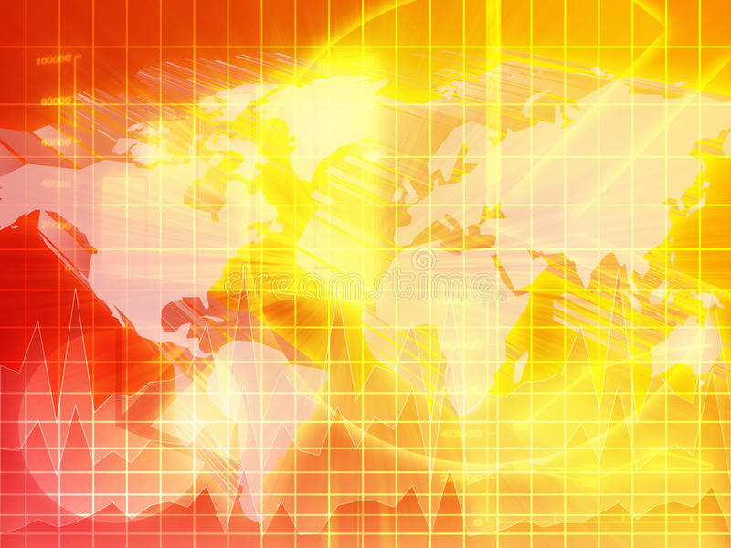 Priorità bassa di finanze internazionali illustrazione di stock