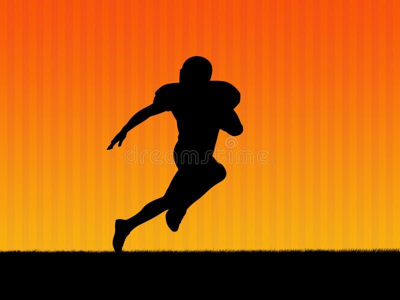 Priorità bassa di football americano illustrazione di stock