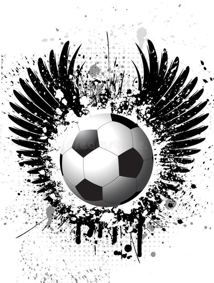 Priorità bassa di gioco del calcio di Grunge illustrazione vettoriale