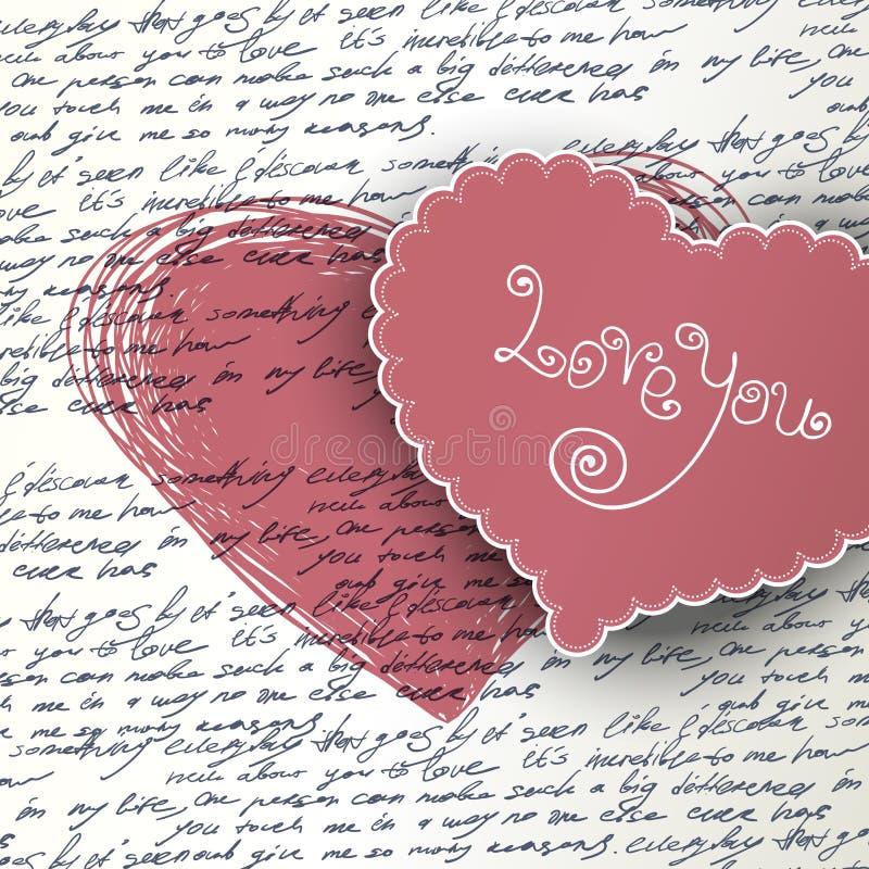 Priorità bassa di giorno dei biglietti di S. Valentino. illustrazione di stock