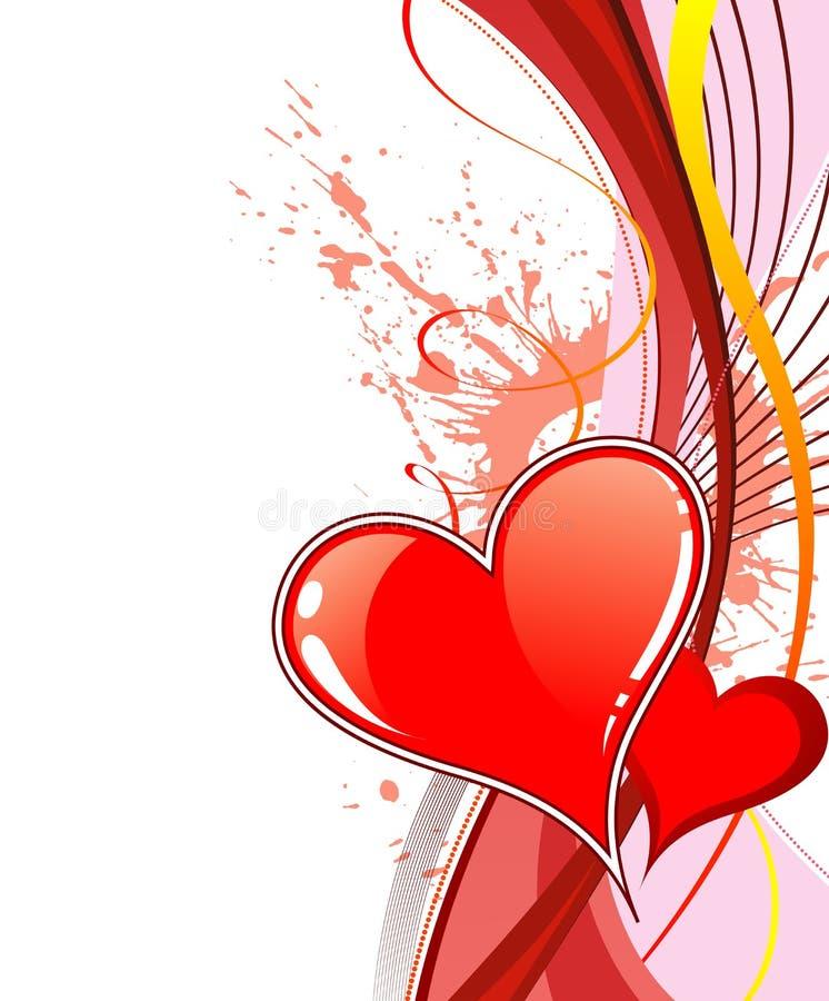Download Priorità Bassa Di Giorno Dei Biglietti Di S. Valentino Con Illustrazione Vettoriale - Illustrazione di cuore, siluetta: 3888687