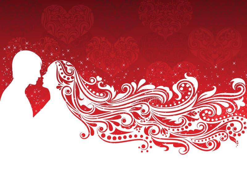 Priorità bassa di giorno del biglietto di S. Valentino. royalty illustrazione gratis