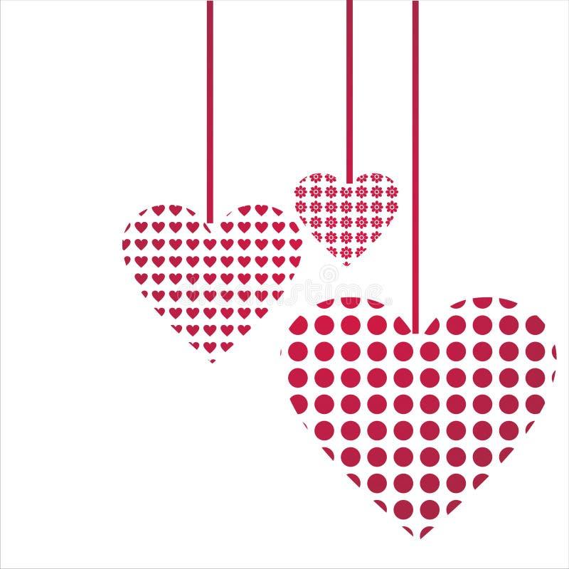 Priorità bassa di giorno del biglietto di S. Valentino della st illustrazione di stock