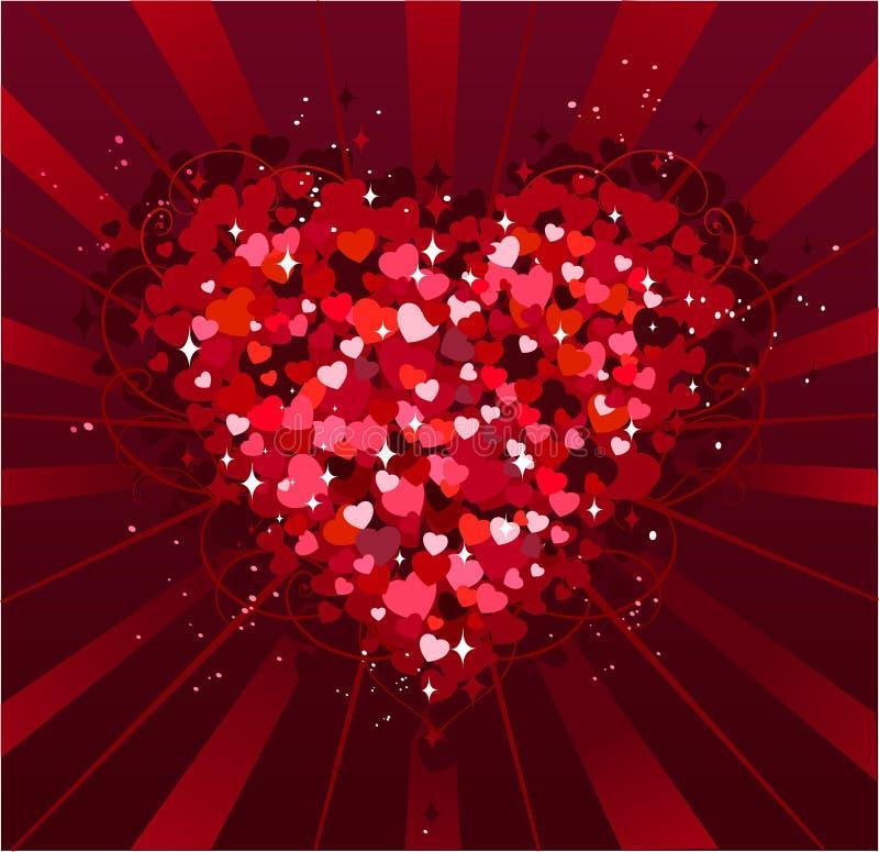 Priorità bassa di giorno di St.Valentine illustrazione vettoriale