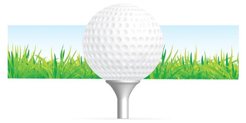 Priorità bassa di golf illustrazione di stock
