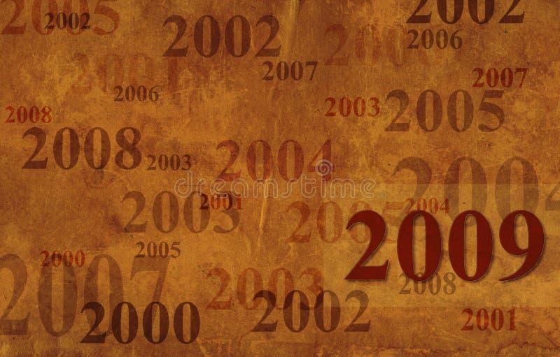 Priorità bassa di Grunge - 2009 illustrazione vettoriale