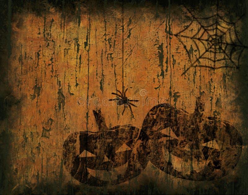 Priorità bassa di Grunge Halloween illustrazione di stock