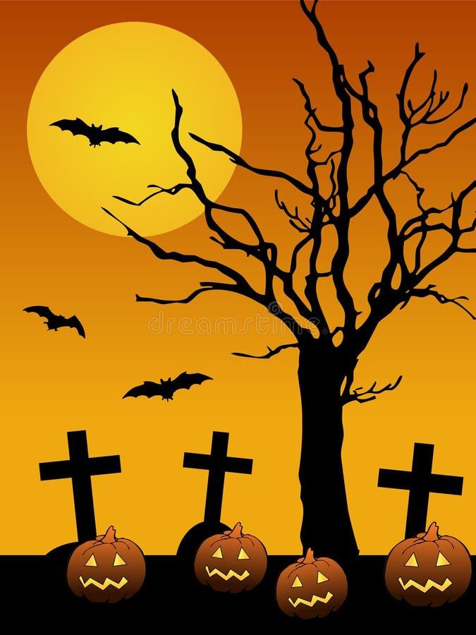 Priorità bassa di Halloween illustrazione di stock