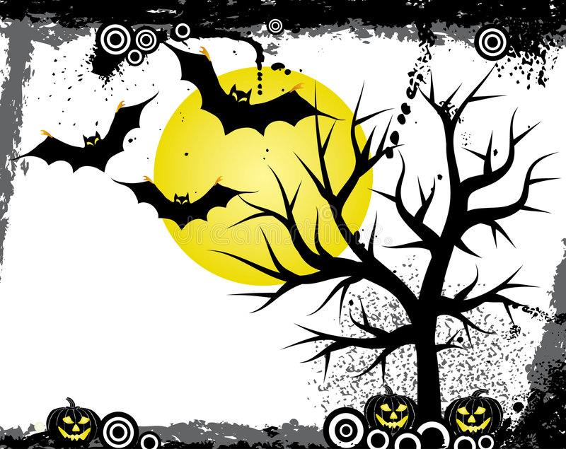 Priorità bassa di Halloween, vettore royalty illustrazione gratis