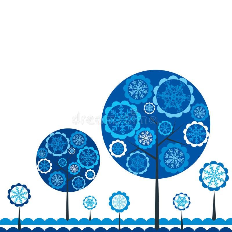 Priorità bassa di inverno dell'albero, vettore illustrazione vettoriale