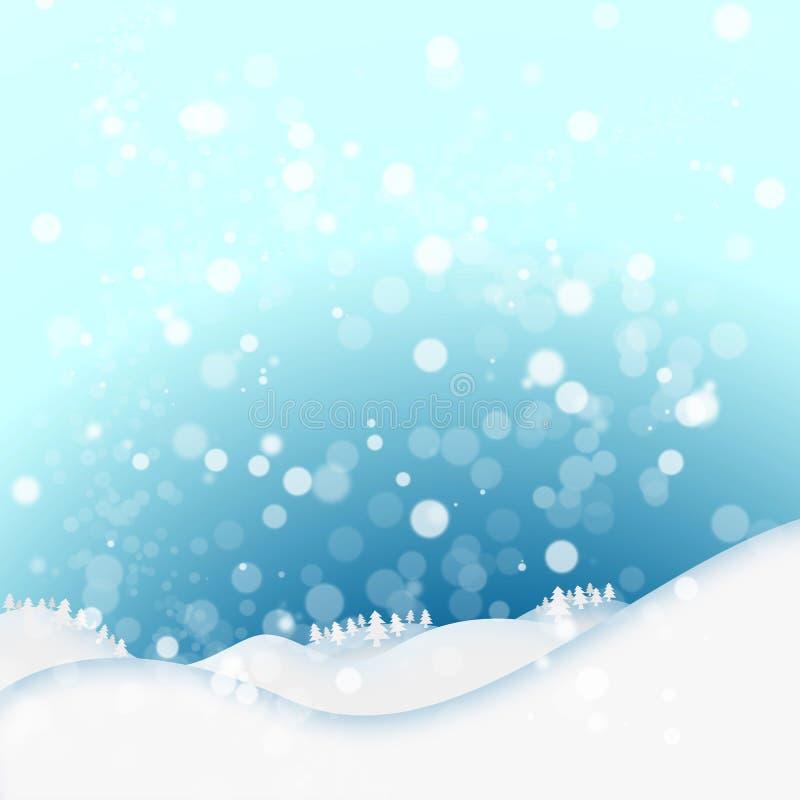 Priorità bassa di inverno della neve illustrazione vettoriale