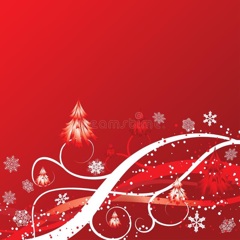 Priorità bassa di inverno di natale, vettore illustrazione vettoriale
