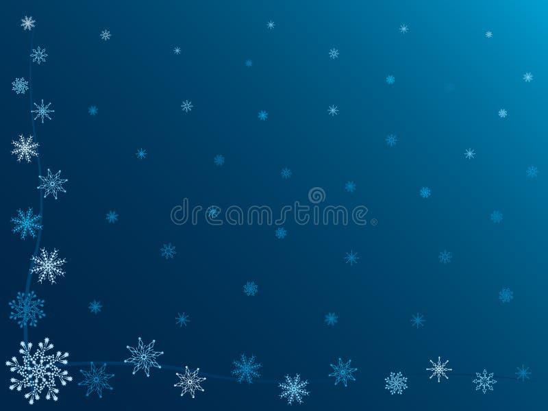 Priorità bassa di inverno. Fiocchi di neve. royalty illustrazione gratis