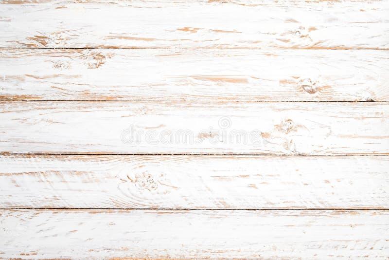 Priorità bassa di legno bianca dell'annata immagini stock libere da diritti