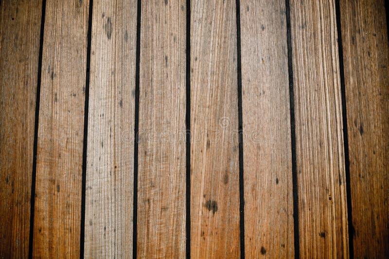 Priorità bassa di legno delle plance della piattaforma della nave di Grunge fotografie stock