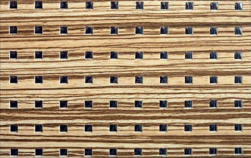Priorità bassa di legno di disegno dei quadrati fotografie stock