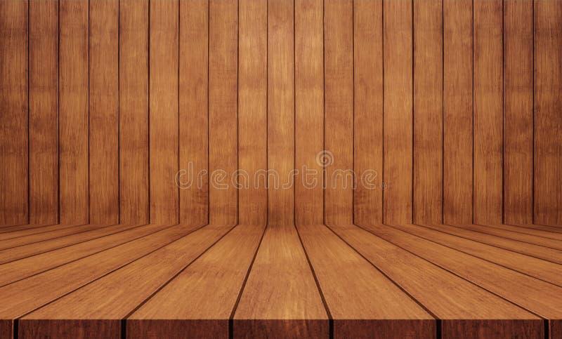 Priorità bassa di legno di struttura Parete e pavimento di legno fotografia stock