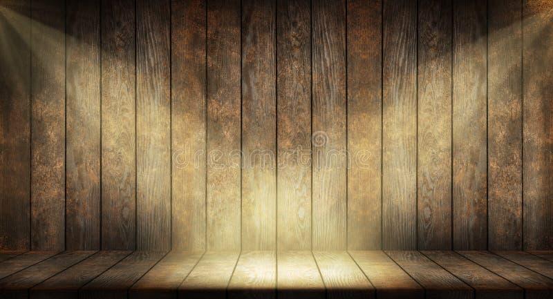 Priorità bassa di legno scura immagini stock