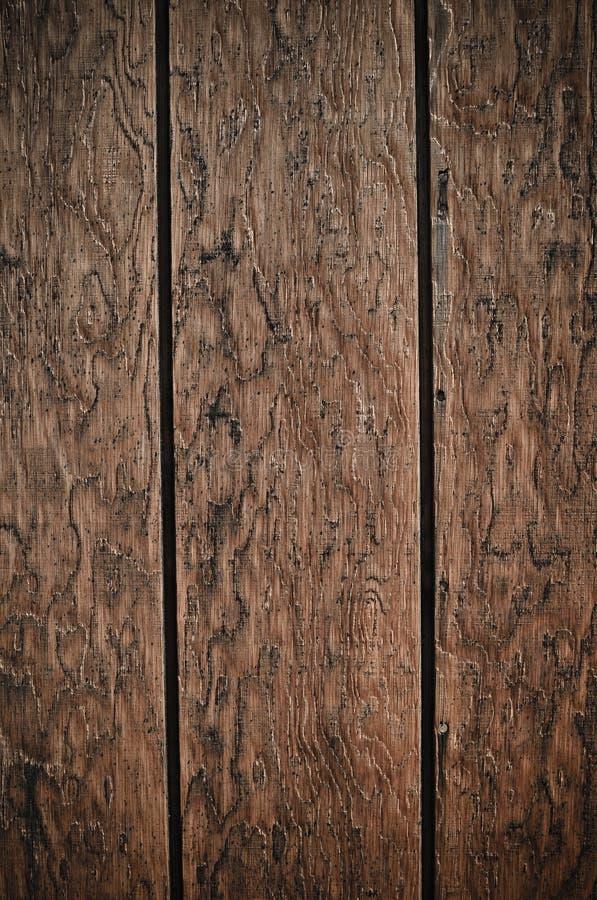 Priorità bassa di legno scura della plancia fotografia stock libera da diritti
