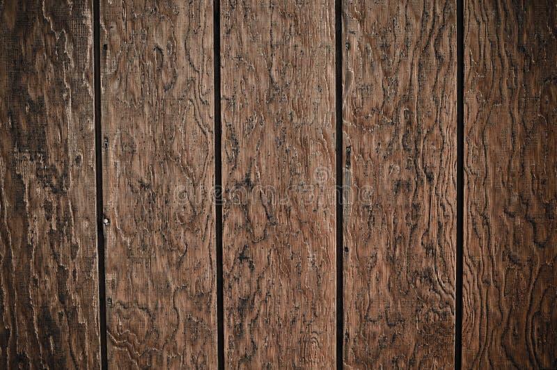 Priorità bassa di legno scura della plancia fotografia stock