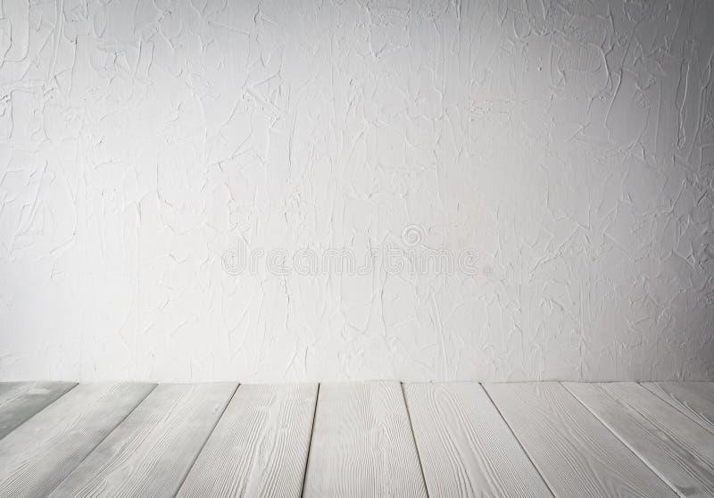 Priorità bassa di legno di struttura Parete di legno bianca fotografia stock libera da diritti