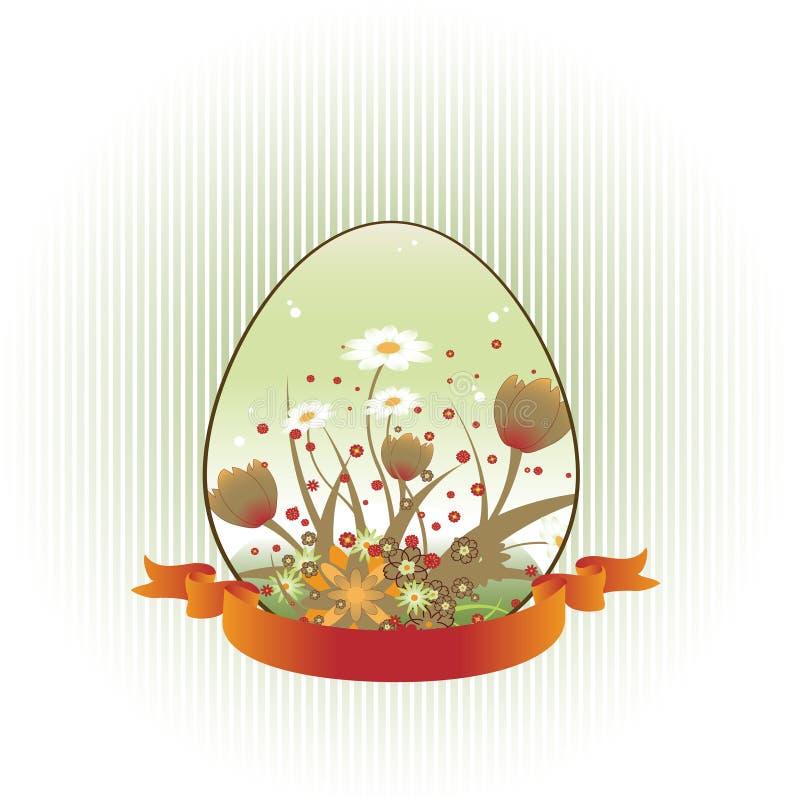 Priorità bassa di Loral decorata con figura dell'uovo di Pasqua illustrazione vettoriale