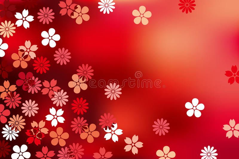 Priorità bassa di lusso astratta del fiore illustrazione vettoriale