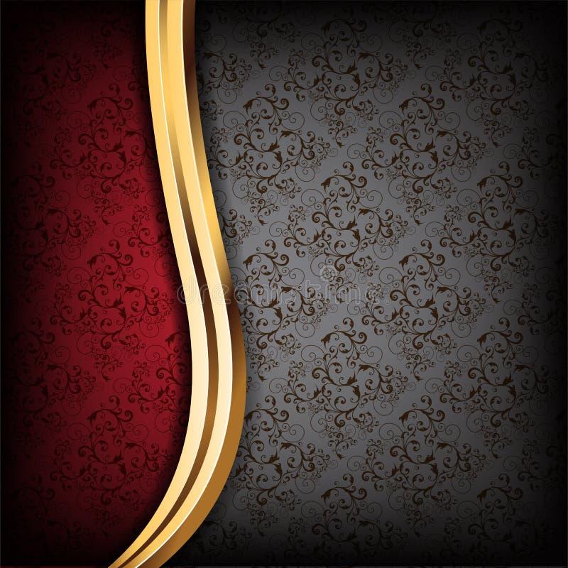 Priorità bassa di lusso nera e rossa royalty illustrazione gratis