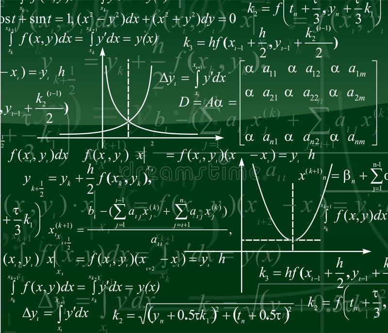 Priorità bassa di matematica illustrazione di stock