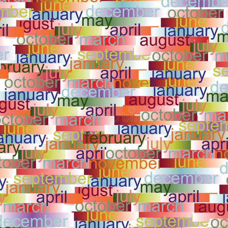 Priorità bassa di mesi di colore illustrazione di stock