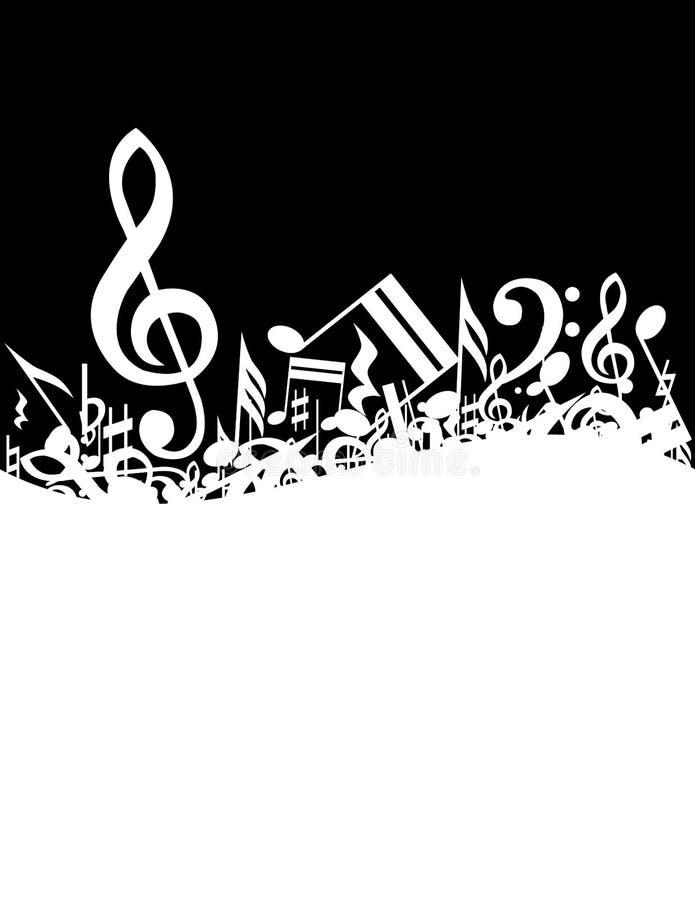 Download Priorità bassa di musica illustrazione vettoriale. Illustrazione di nero - 7313471