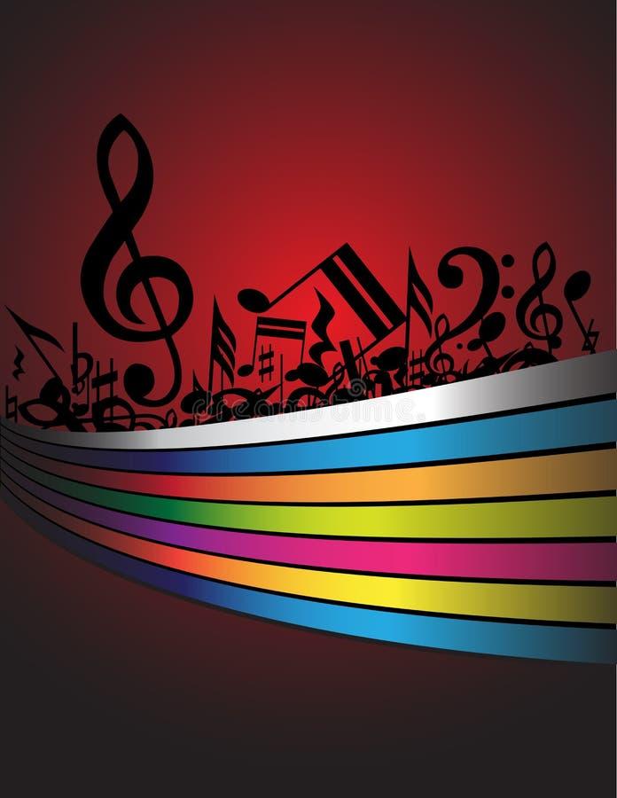 Download Priorità bassa di musica illustrazione vettoriale. Illustrazione di nota - 7313587