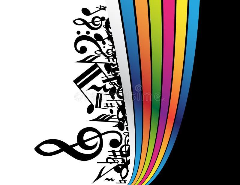Download Priorità bassa di musica illustrazione vettoriale. Illustrazione di composizione - 7313673