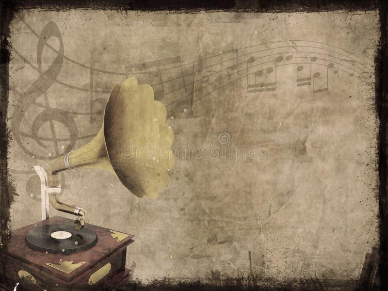 Priorità bassa di musica di Grunge illustrazione vettoriale