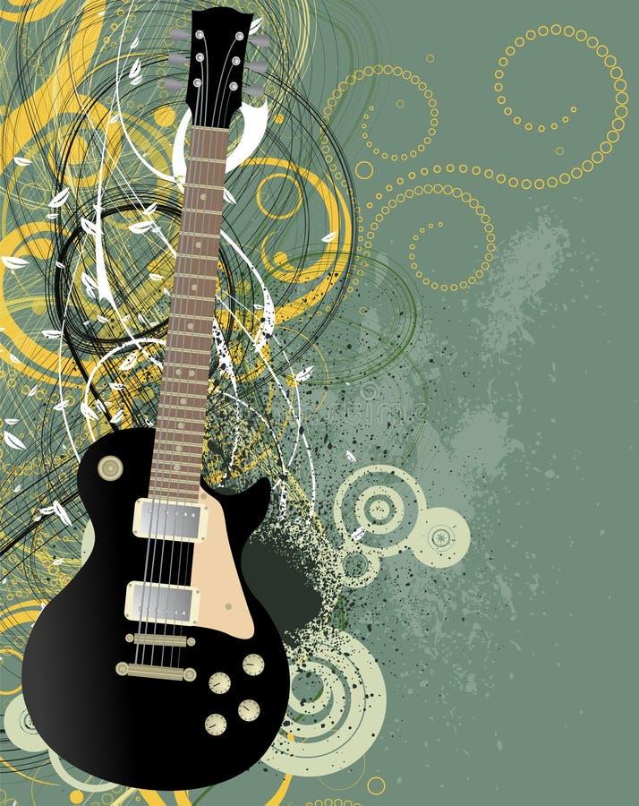 Priorità bassa di musica di Grunge - vettore royalty illustrazione gratis