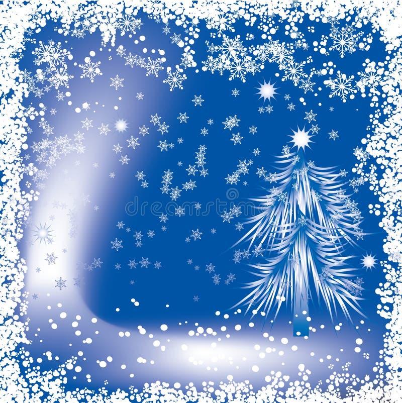 Priorità bassa di natale con fiocchi di neve, vettore illustrazione vettoriale